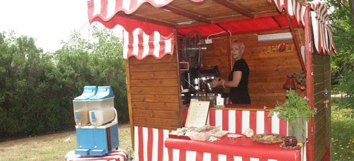 עגלת קפה כפרית